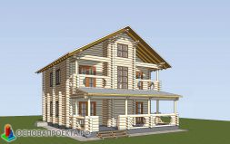 Рендер двухэтажного жилого дома