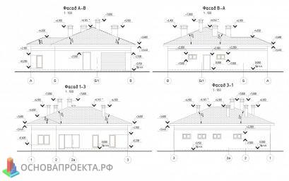 Проект бани и гаража