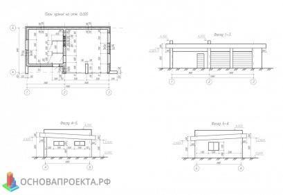 План здания, фасад